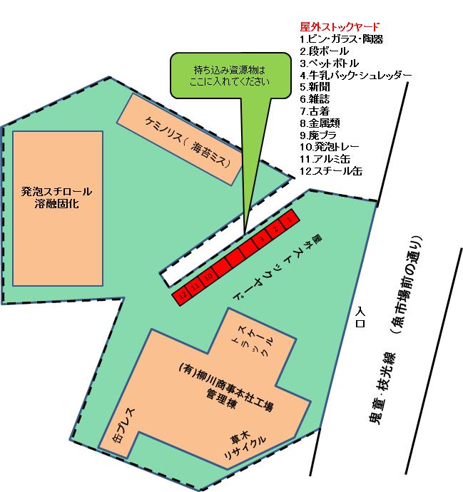 柳川商事本社見取図