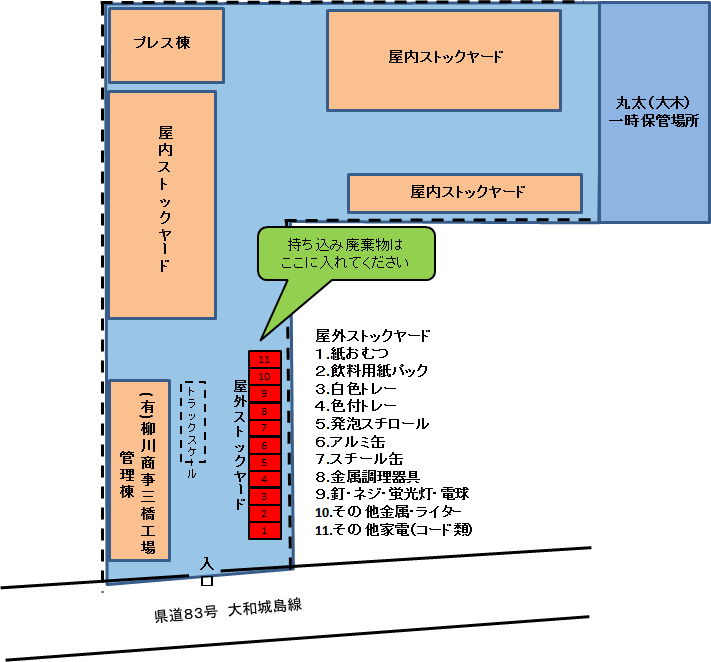 三橋工場レイアウト図